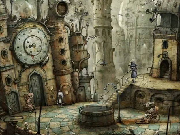 <em>Machinarium</em> from Amanita Design is an adventure game centered a robot who has been sent to the scrap heap. Players solve puzzles to help the robot return to the city.
