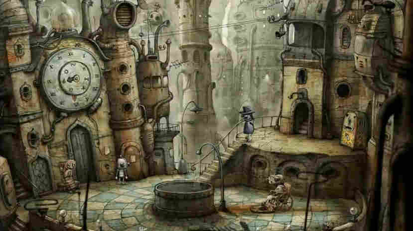 Machinarium from Amanita Design is an adventure game centered a robot who has been sent to the scrap heap. Players solve puzzles to help the robot return to the city.