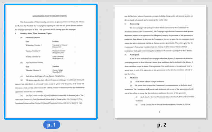 Click on the documents to read the full memorandum.