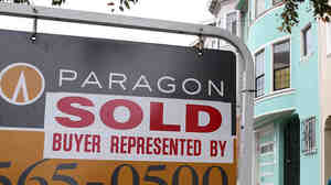 "A ""sold"" sign in San Francisco in August."