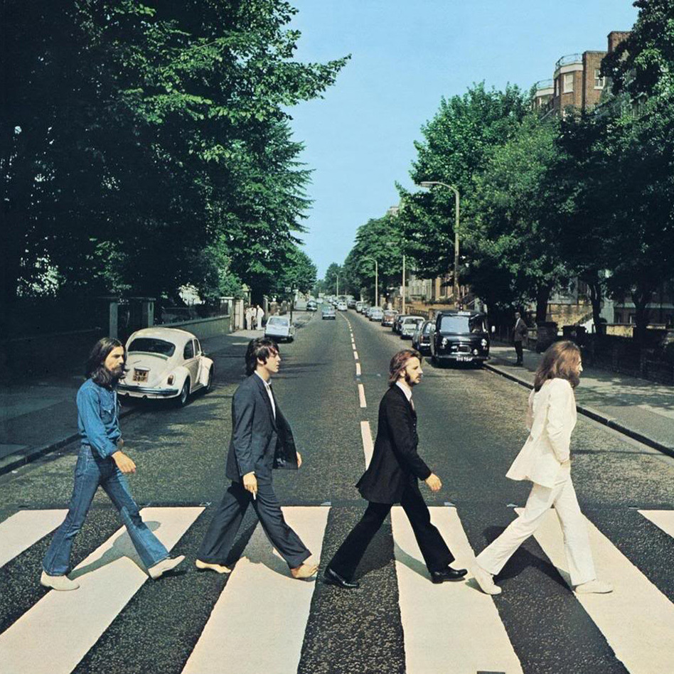 The iconic cover of The Beatles' <em>Abbey Road.</em>