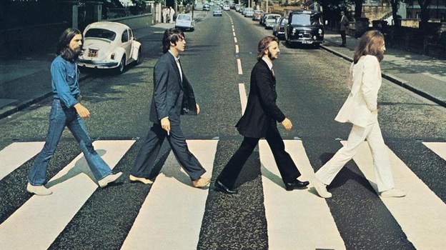 The iconic cover of The Beatles' Abbey Road. (Album cover)