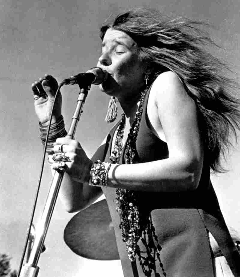 Rock singer Janis Joplin. (Performance date and location unknown.)