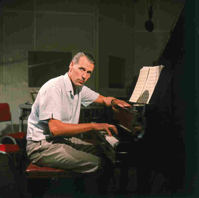 George Martin at the Studios.