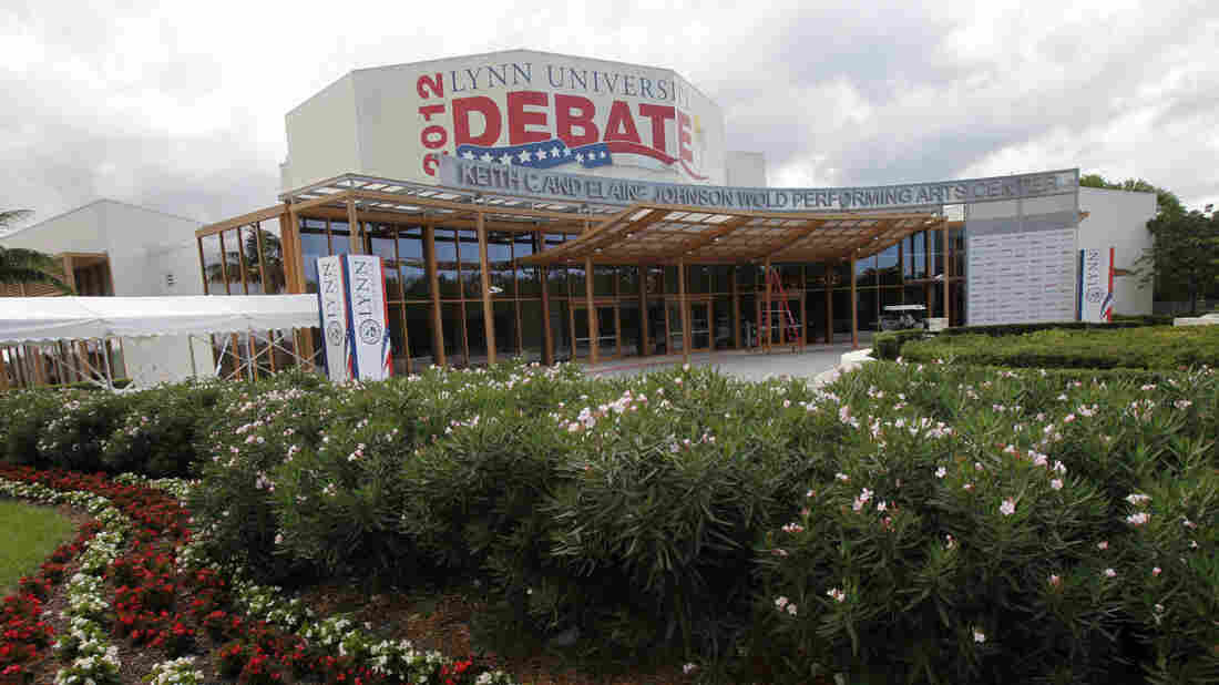 The Keith C. and Elaine Johnson Wold Performing Arts Center is the site off the upcoming presidential debate at Lynn University. The small Florida college is awaiting its big moment in the spotlight on Monday.