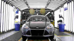 """A Ford Focus on the assembly line in Wayne, Mich. """"We have a lot going for us; we've got our problems, but others have problems that are as bad or worse,"""" says Nariman Behravesh, chief economist at IHS Global Insight."""