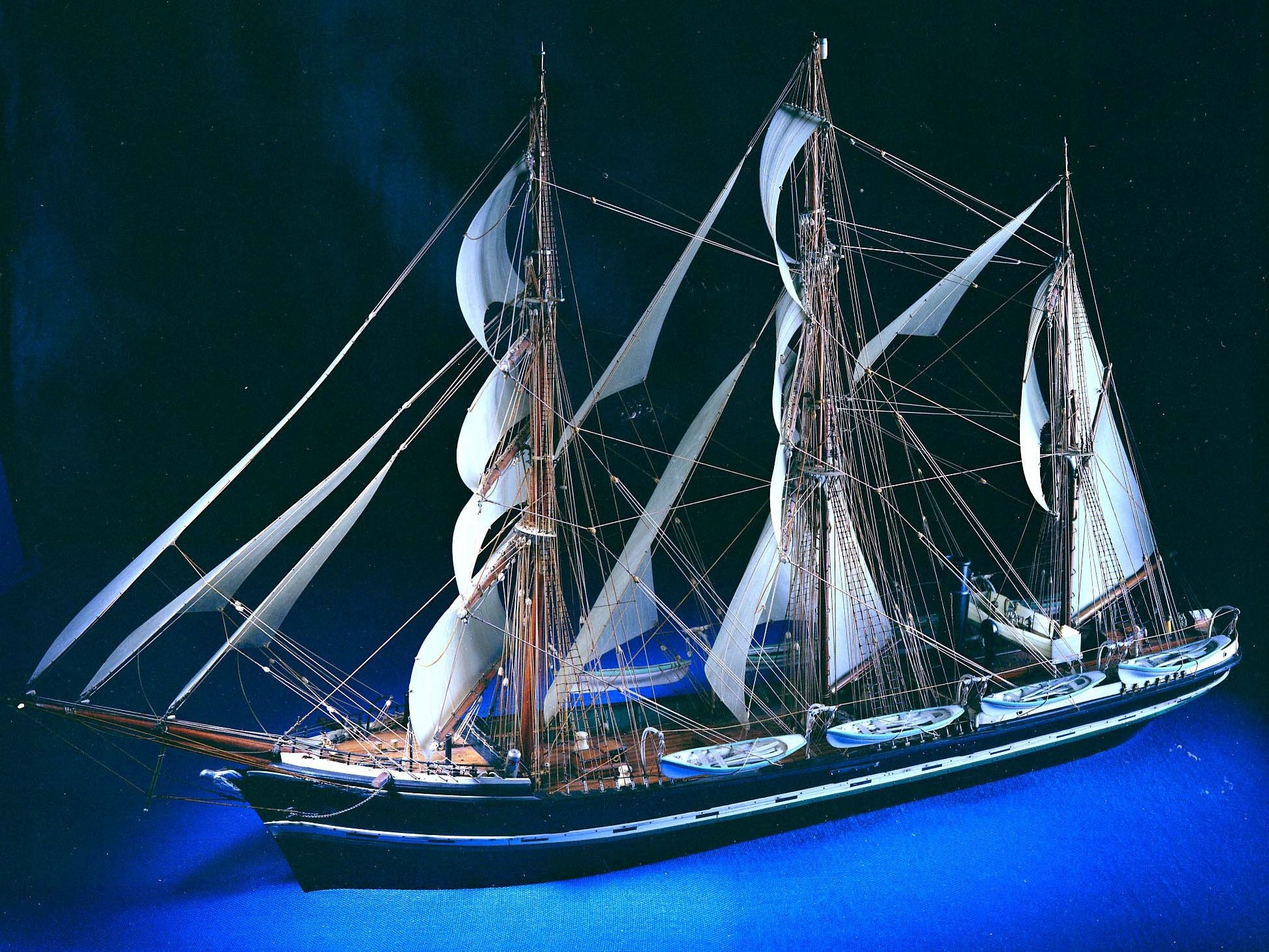 A contemporary model of the Hope, the Arctic whaler on which Doyle served as ship's surgeon in 1880