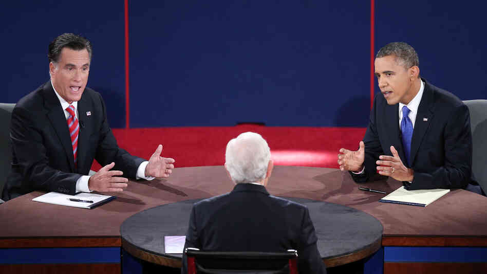 Mitt Romney and President Obama debate Monday in Boca Raton, Fla., with moderator Bob Schieffer.