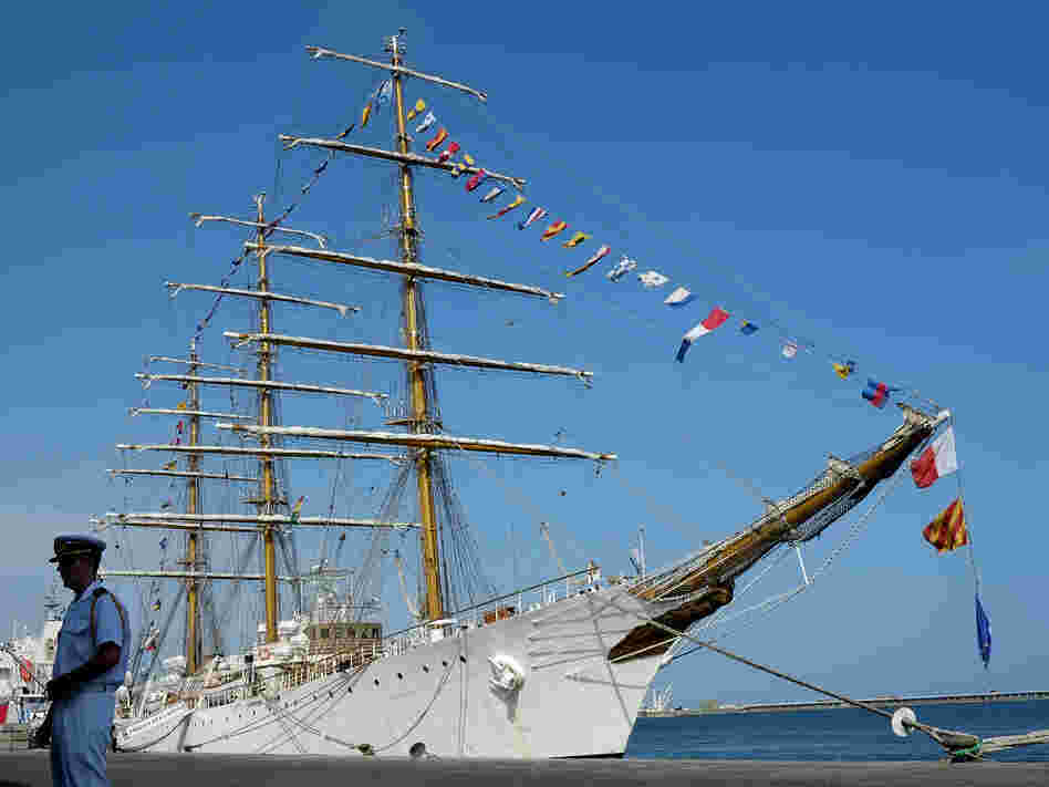The Libertad is being held in port near Accra, Ghana.
