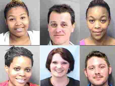 Say cheese? A sampling of smiling mug shots posted to the Mecklenburg County Sheriff's website during the past three weeks.