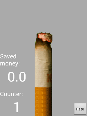 In this virtual smoking app, the cigarette 'burns' as you breathe on the phone.