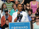 "During a campaign speech at Veterans Memorial Park in Manchester, N.H., Oct. 18, President Obama once again embraced the term ""Obamacare"" while discussing the Affordable Care Act."