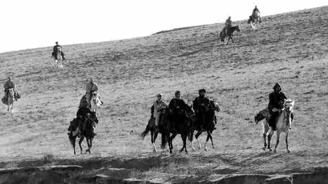 U.S. Army Special Forces ride horseback as they work with members of the Northern Alliance in Afghanistan in 2001.