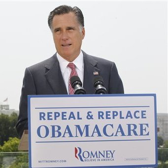 Soon after the U.S. Supreme Court's decision to uphold the Affordable Care Act, Republican presidential candidate Mitt Romney said he would push to repeal the law if elected.