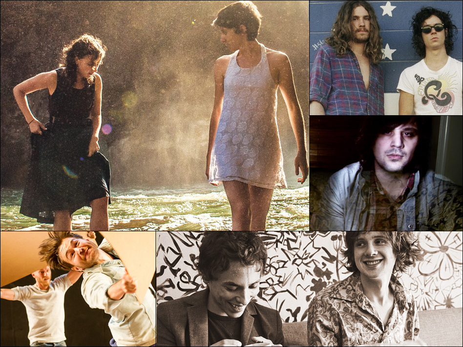 Clockwise from upper left: Hundred Waters, Turbo Fruits, Brick + Mortar, Foxygen, People Get Ready.
