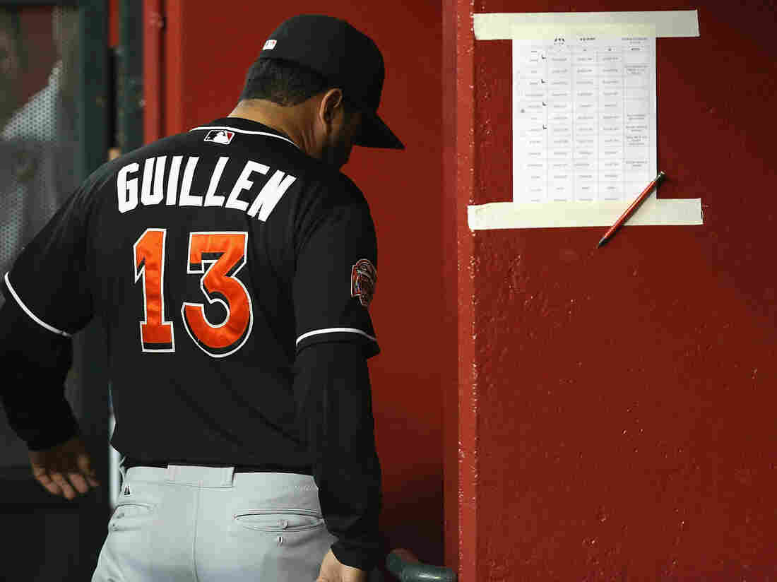 He's headed elsewhere: Now-former Marlins manager Ozzie Guillen.