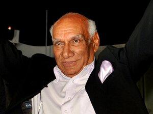 Yash Raj Chopra, shown celebrating his 80th birthday earlier this year in Mumbai, died Sunday.