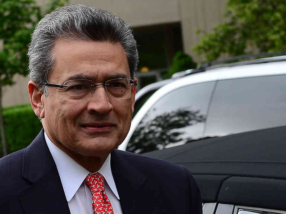 Rajat Gupta as he arrived at the federal courthouse in Manhattan in June.