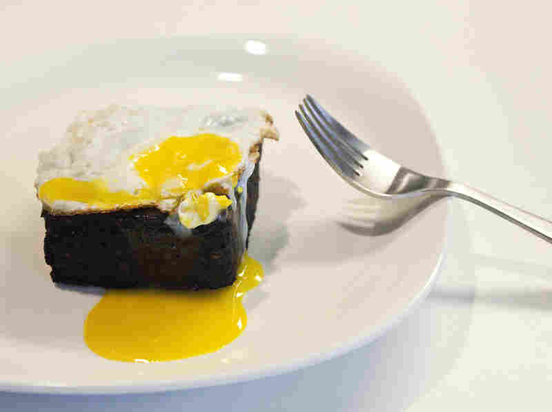 Blood Cake With Fried Egg
