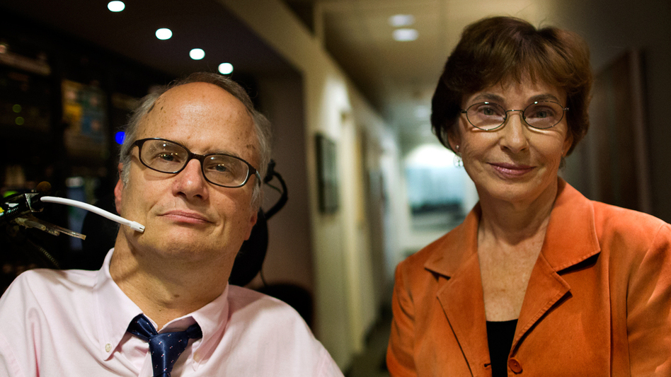 John Kelly and Dr. Marcia Angell are advocates on opposite sides of the issue of physician-assisted suicide. (WBUR)
