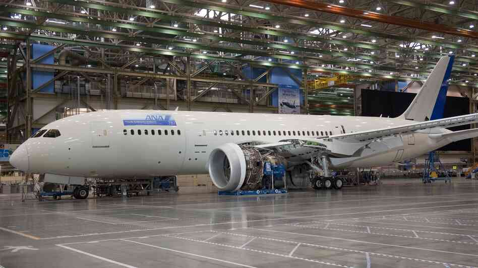A Boeing 787 Dreamliner aircraft at the company's factory in Everett, Wash. Orders for aircraft drove the increase in demand for durable goods last month.