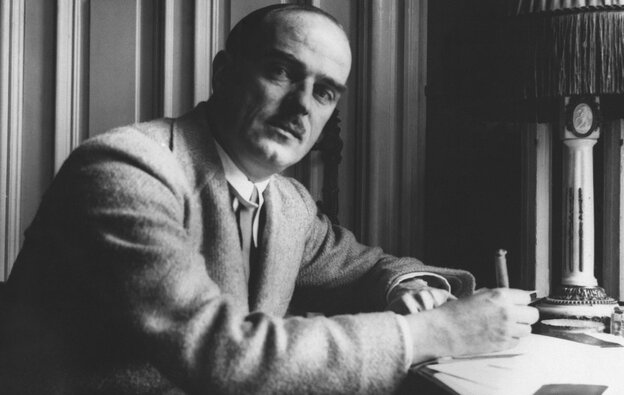 Thornton Wilder works in a Berlin hotel in 1931. His titles include the plays Our Town (1938) and The Skin of Our Teeth (1942), as well as the novels Heaven's My Destination (1935) and The Bridge of San Luis Rey (1927).