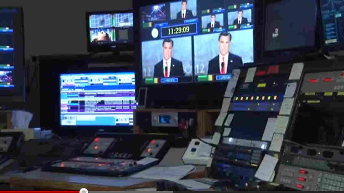 A control room at television station WDBJ 7 in Roanoke, Va., one of the many swing state markets being inundated with campaign ads.