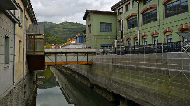 The Basque region has a long and rich industrial tradition. Here is a CAF factory in Beasain, Spain. (Lauren Frayer for NPR)