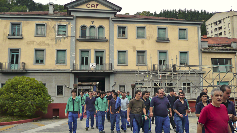 The Basque region has a long and rich industrial tradition. CAF is growing by 10 percent a year. (Lauren Frayer for NPR)