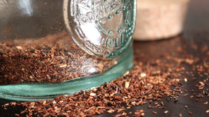 Rooibos tea leaves