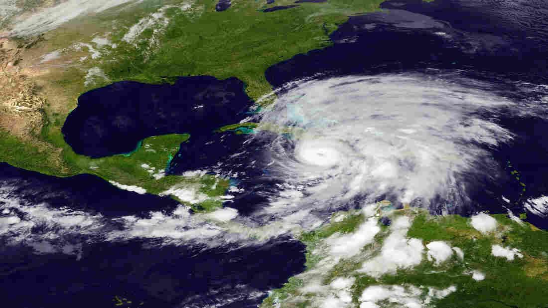 Hurricane Sandy as it bore down   on Cuba.