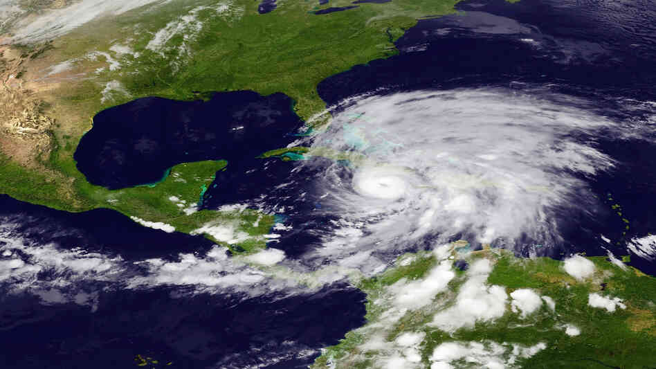 Hurricane Sandy as it bore down   on Cuba.