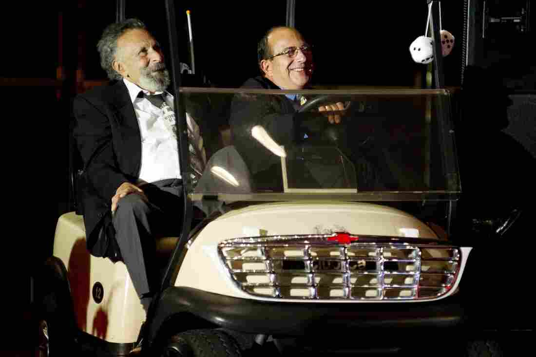 Tom and Ray Magliozzi at the Annual WBUR Gala Celebrating 35 years with the Car Talk hosts.