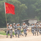 """""""The Defense of Yan'an"""" re-enacts a 1947 battle to protect Mao Zedong's Communist stronghold during the Chinese Civil War from the Nationalists, who fled to Taiwan."""