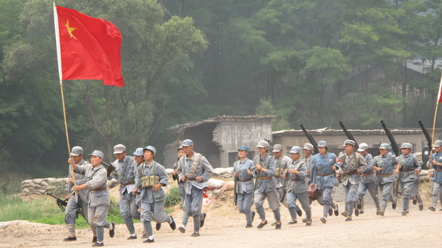 """The Defense of Yan'an"" re-enacts a 1947 battle to protect Mao Zedong's Communist stronghold during the Chinese Civil War from the Nationalists, who fled to Taiwan. (NPR)"