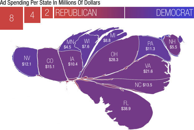 A Campaign Map, Morphed By Money : It\'s All Politics : NPR