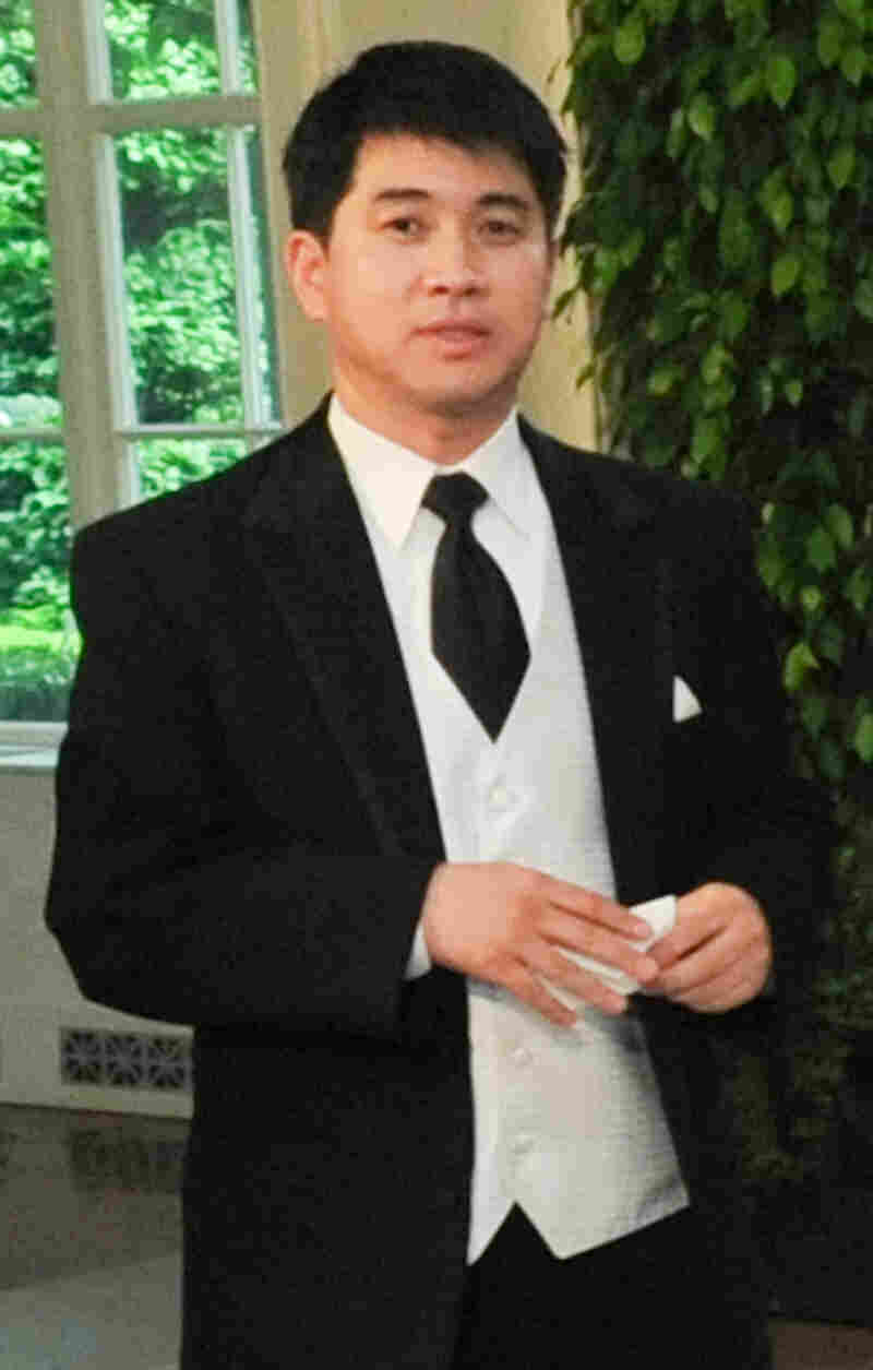 Short track speedskating coach Jae Su Chun, shown here in May 2010 at a state dinner for Mexican President Felipe Calderon.