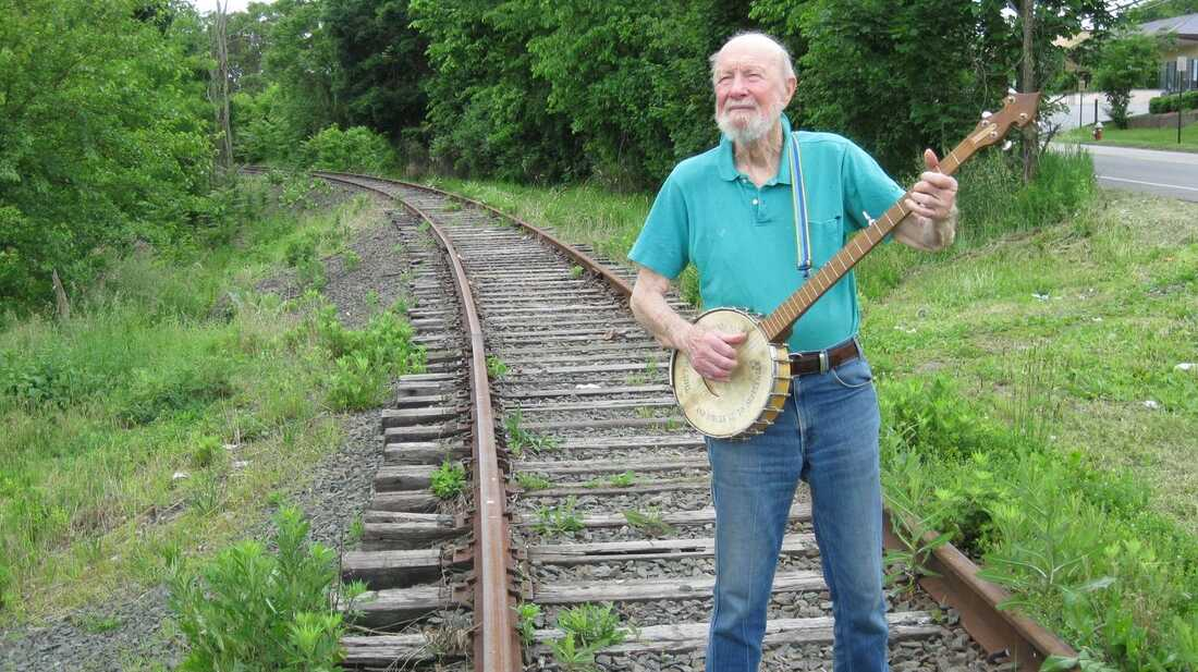 At 93, Pete Seeger Keeps The Fire Burning Low