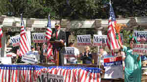 "Former Alabama Chief Justice Roy Moore, known as the ""Ten Commandments Judge,"" makes an appearance at a Tea Party rally in Mobile. The Republican is running for chief justice again despite being removed from the office nearly 10 years ago for defying a federal court order to remove a massive Ten Commandments monument from the Alabama judicial building."