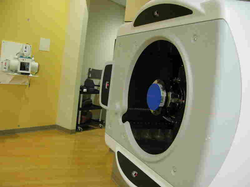 Proton machines, like the one above, that can carefully target tumors hold promise for prostate cancer patients. But the therapy can be quite expensive.