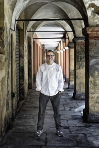 Chef Massimo Bottura's restaurant in Modena, named Osteria Francescana, has earned three Michelin stars and was recently ranked first in Italy and fifth in the world by the San Pellegrino list of the World's Top 50 Restaurants. San Pellegrino also named Bottura the best chef in the world.
