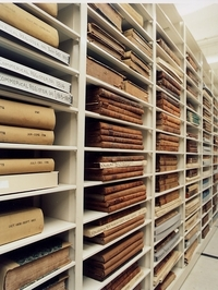 Antiquarian Hall has over 25 miles of shelves housing materials published from 1640 to 1876.