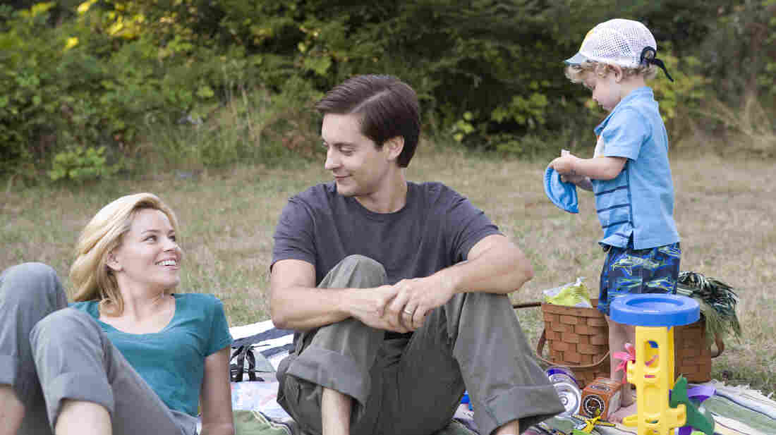 Nealy and Jeff Lang (Elizabeth Banks and Tobey Maguire) struggle with infidelity, secrets, guilt and a raccoon problem in The Details.