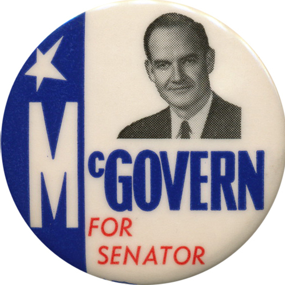 McGovern was elected to the House in 1956, the Senate in 1962, and was the Dem prez nominee in 1972. (Ken Rudin collection)