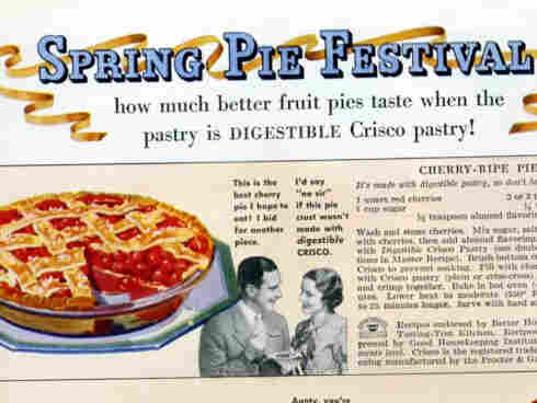 "Crisco pie recipes from a 1934 issue of ""Better Homes"