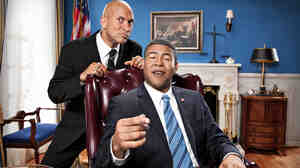 Keegan-Michael Key and Jordan Peele cooperate to impersonate President Obama in Comedy Central's Key and Peele.