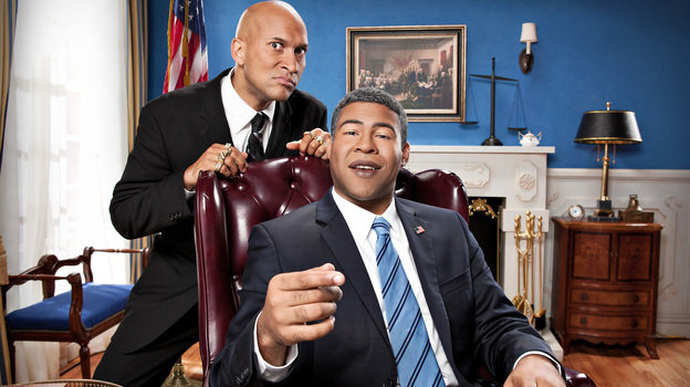 Keegan-Michael Key and Jordan Peele cooperate to impersonate President Obama in Comedy Central's Key and Peele. (Comedy Central)