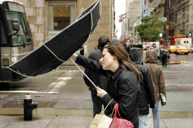 Hurricane Wilma takes on New York City, 2005.