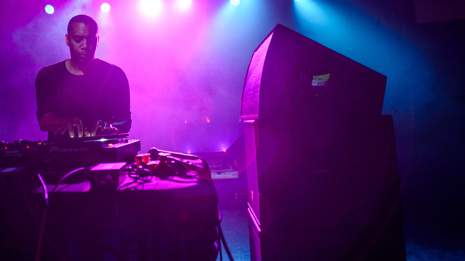 Detroit techno artist Carl Craig plays the Orange Peel at Moogfest on Saturday, Oct. 27, 2012. (Adam Kissick for NPR)