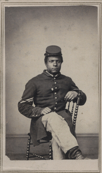 Sgt. Kendrick Allen was born a slave in Anderson County, Ky., and joined the Army at age 19, enlisting in the 108th U.S. Colored Infantry.
